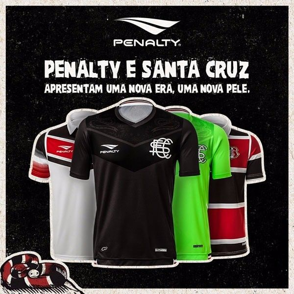 Novas camisas Penalty do Santa Cruz
