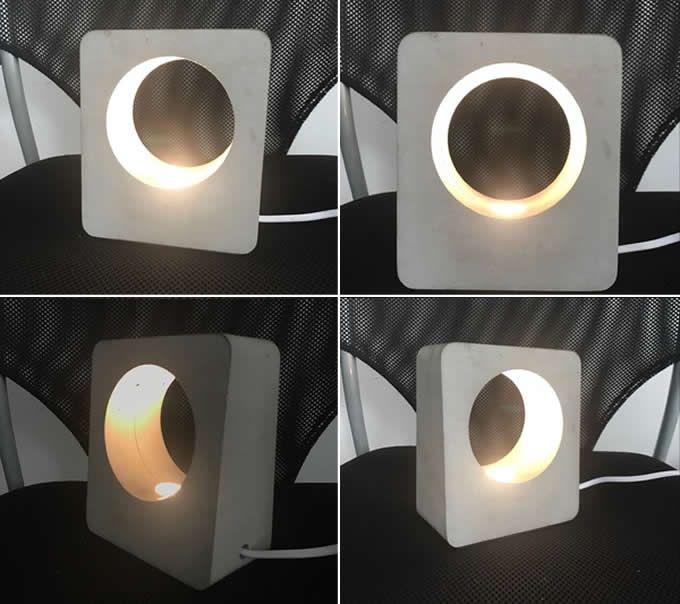 Handmade Concrete LED Night Light Lamp
