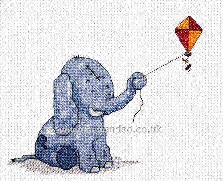 Buy Kite Flying Cross Stitch Kit Online at www.sewandso.co.uk