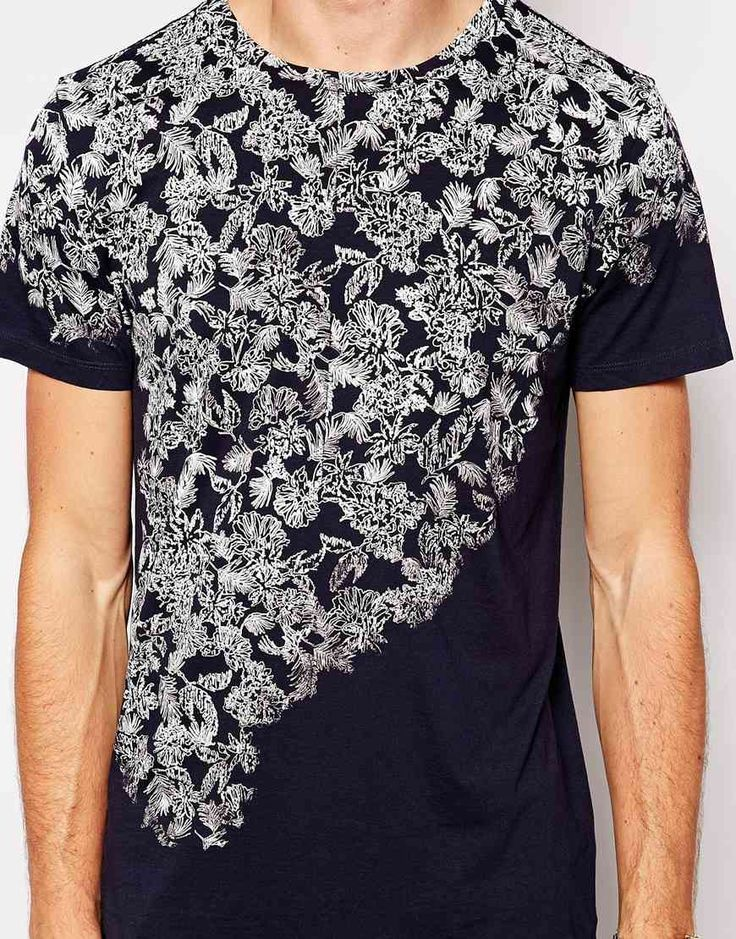 Boss Orange Tshirt with Floral Print in Blue for Men (Navy) | Lyst