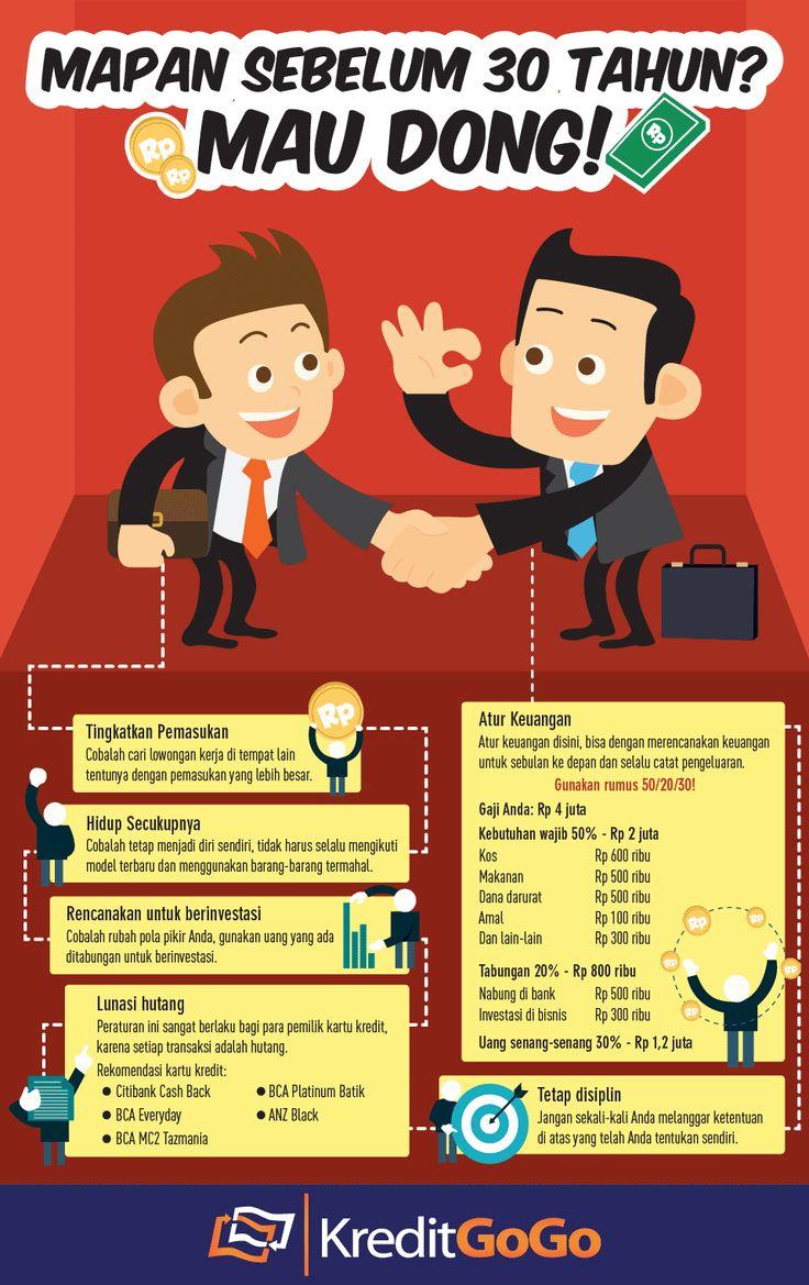 Mapan Sebelum 30 Tahun? Mau Dong! https://kreditgogo.com/artikel/Keuangan-dan-Anda/Mapan-Sebelum-30-Tahun-Mau-Dong.html #PersonalLoan #Infographic #MoneyInfoGraphic #CreditCard
