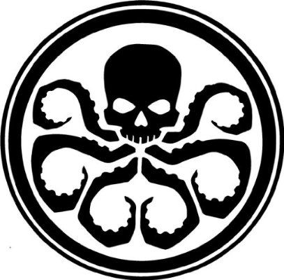 Hydra Emblem -Marvel- Avengers Logo Symbol Vinyl Decal Die Cut Sticker -white-