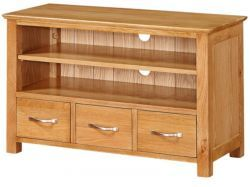 Newark Oak 3 Drawer TV Unit http://solidwoodfurniture.co/product-details-oak-furnitures-3494--newark-oak-drawer-tv-unit.html