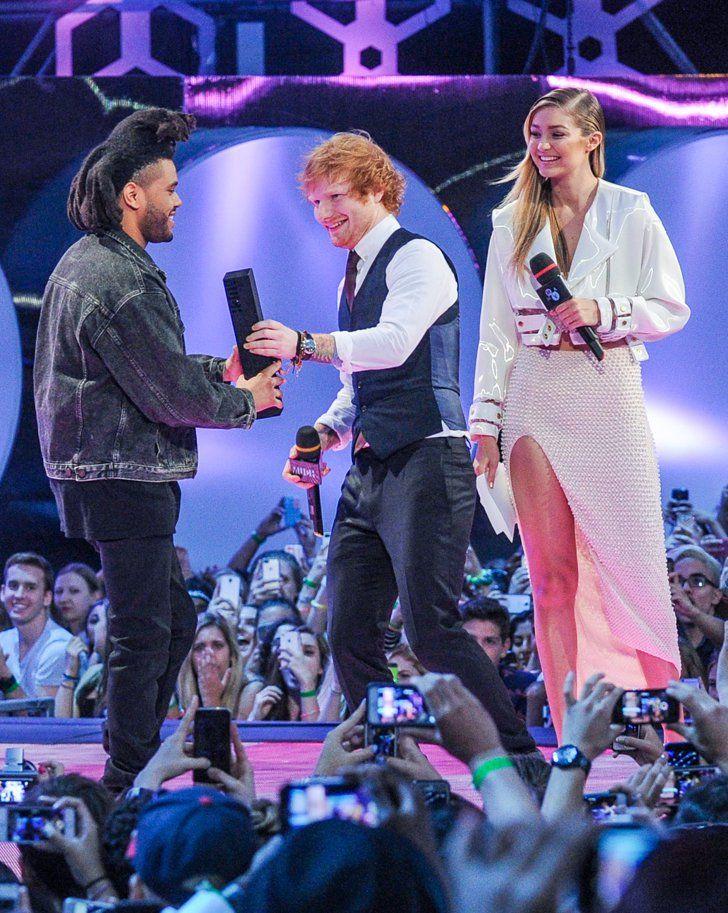 Pin for Later: Die Stars feiern eine riesige Party bei den Much Music Video Awards The Weeknd, Ed Sheeran und Gigi Hadid