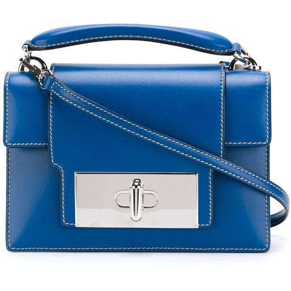 Marc Jacobs Mischief Handbag ($1,400) ❤ liked on Polyvore featuring bags, handbags, shoulder bags, navy, blue purse, navy shoulder bag, navy blue shoulder bag, blue handbags and navy blue handbags