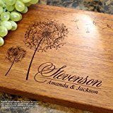 Dandelions Personalized Engraved Cutting Board- Wedding Gift Anniversary Gifts Housewarming GiftBirthday Gift Corporate Gift Award Promotion. #406