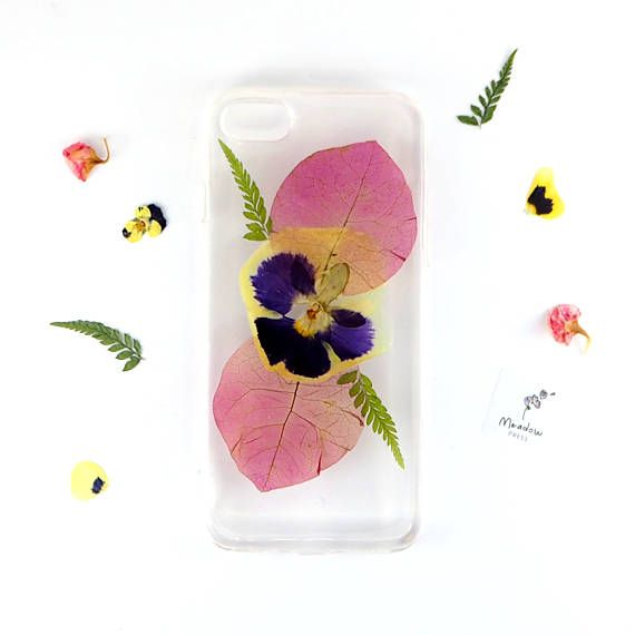 Pansy love https://www.etsy.com/uk/listing/588294535/iphone-7-iphone-8-bumper-case-with-real