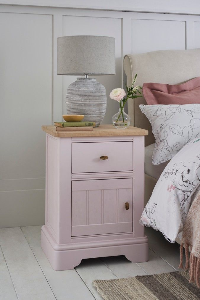 Next Hampton Storage Bedside Table Pink Pink Bedside Tables Painted Bedside Tables Kids Bedside Table