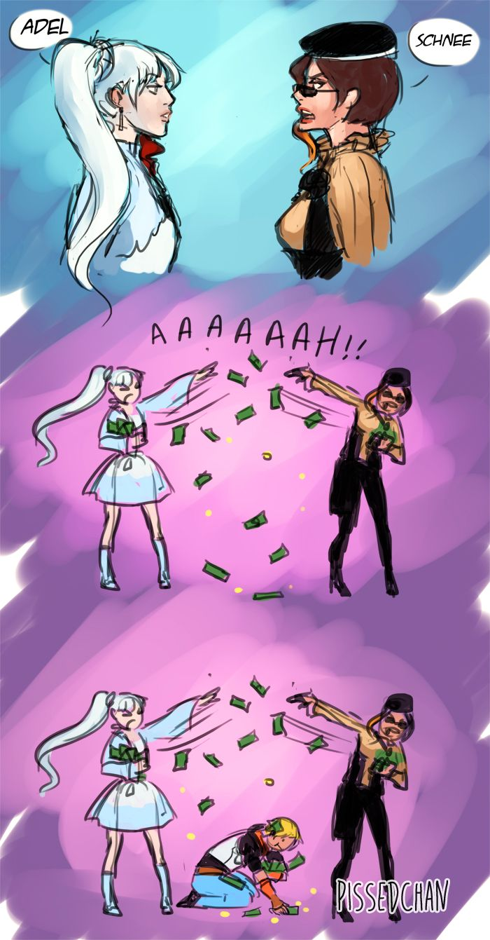 I picture Weiss and Coco being the richest kids on beacon. (if you listen to the lyrics of caffeine)