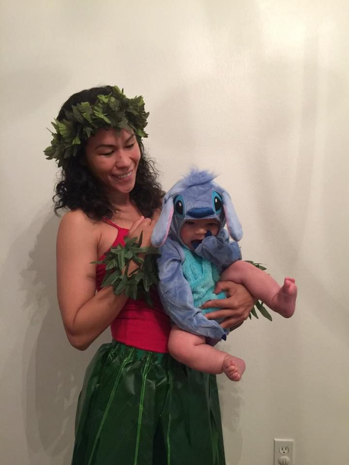 Lilo & Stitch mommy and baby Halloween costume