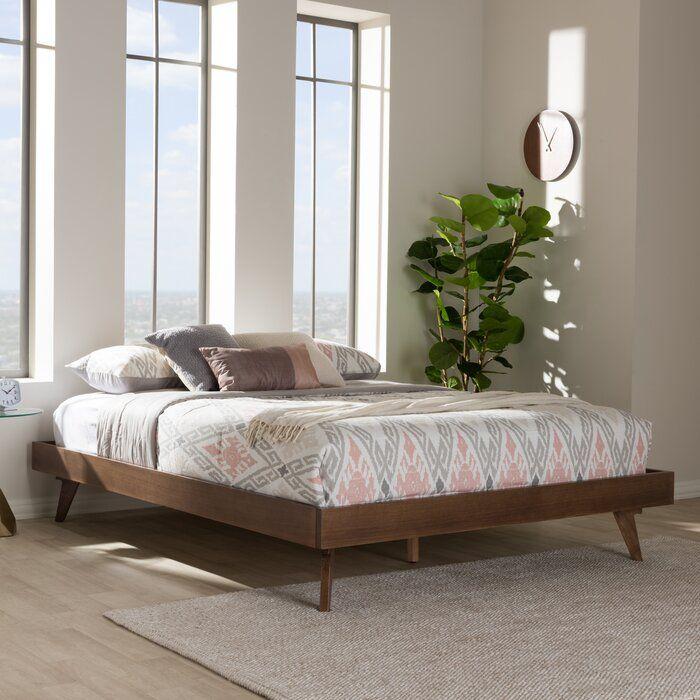 Brunner Platform Bed In 2020 Modern Bed Frame Wood Platform Bed Solid Wood Bed Frame