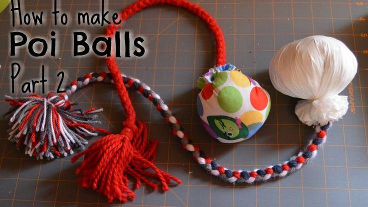 How to make poi balls: Part 2 - YouTube