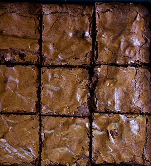 Makes 16 Brownies Prep time:5 minsCook time:40 mins Ingredients:1/2 cup of Unsalted Butter, softened at room temperature10 oz of bittersweet chocolate1-1/3 cups of Granulated Sugar1/4 tsp of Salt…