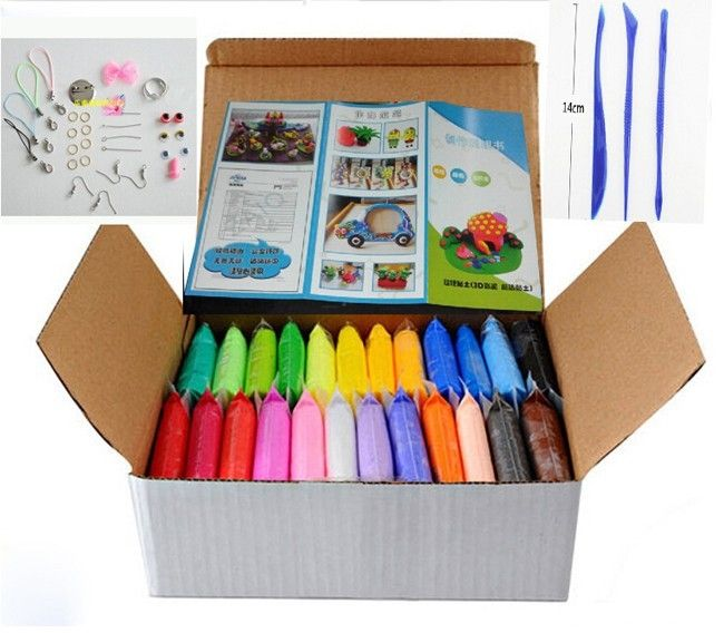 12.89$  Buy now - http://ali5x1.shopchina.info/go.php?t=32570124803 - 24colors DIY Soft Polymer Modelling Clay set with tools Air-dried good package FIMO Effect Blocks Special Toys Gift for Children  #aliexpressideas