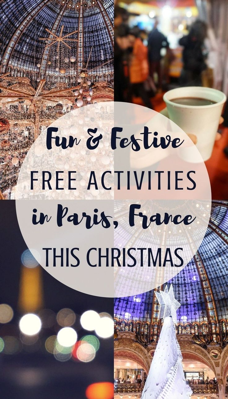 Free festive fun in the city of lights: Free Christmas activities in Paris, France you'll love this holiday season!