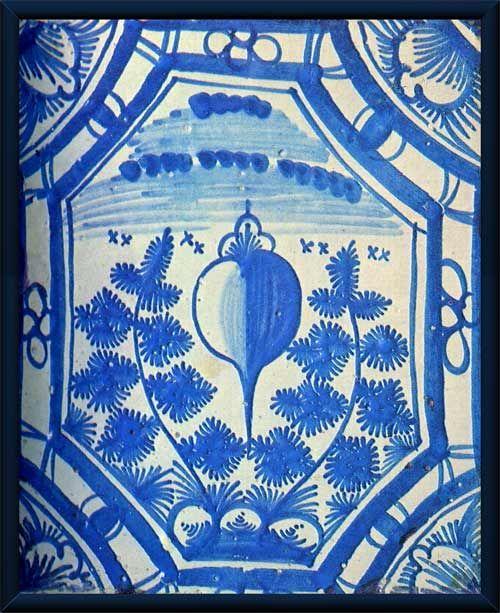 Дворец Меншикова. Печной изразец с изображением сердца.