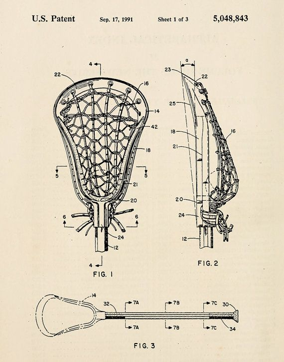 Vintage lacrosse stick