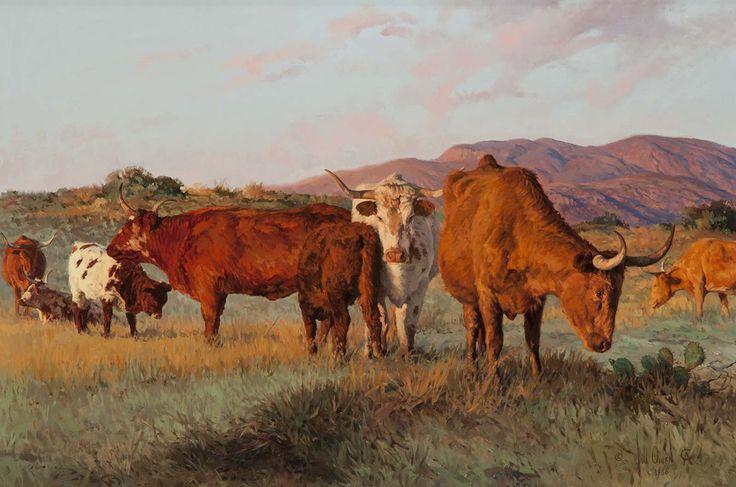 BILL OWEN - Patriarcas do Texas   Óleo sobre tela - 50,8 x 76,2       BENEDITO LUIZI - Paisagem   Óleo sobre tela - 33 x 24