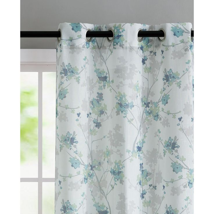 Corteny Nature/Floral Sheer Curtain Panels