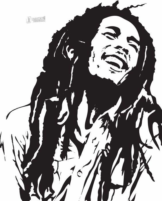 bob marley stencil: