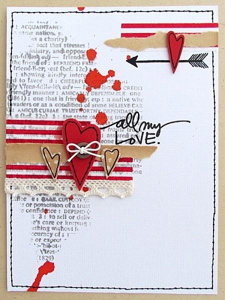 Beautiful, impressive handmade love card