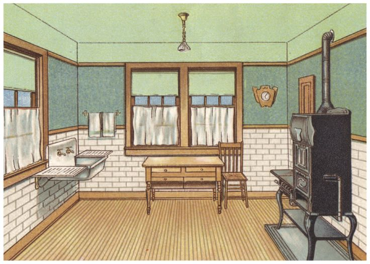170 best early 1900s kitchens images on pinterest for Craftsman farmhouse interior