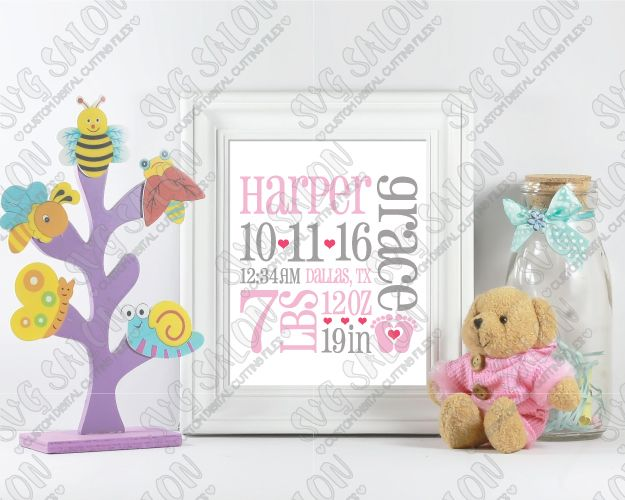 Best  Birth Announcement Template Ideas On   Birth