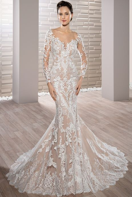 Featured Dress: Demetrios; Wedding dress idea.