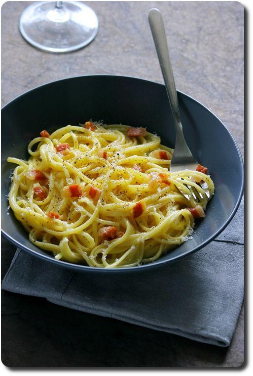 Pâtes à la Carbonara, selon la véritable recette italienne