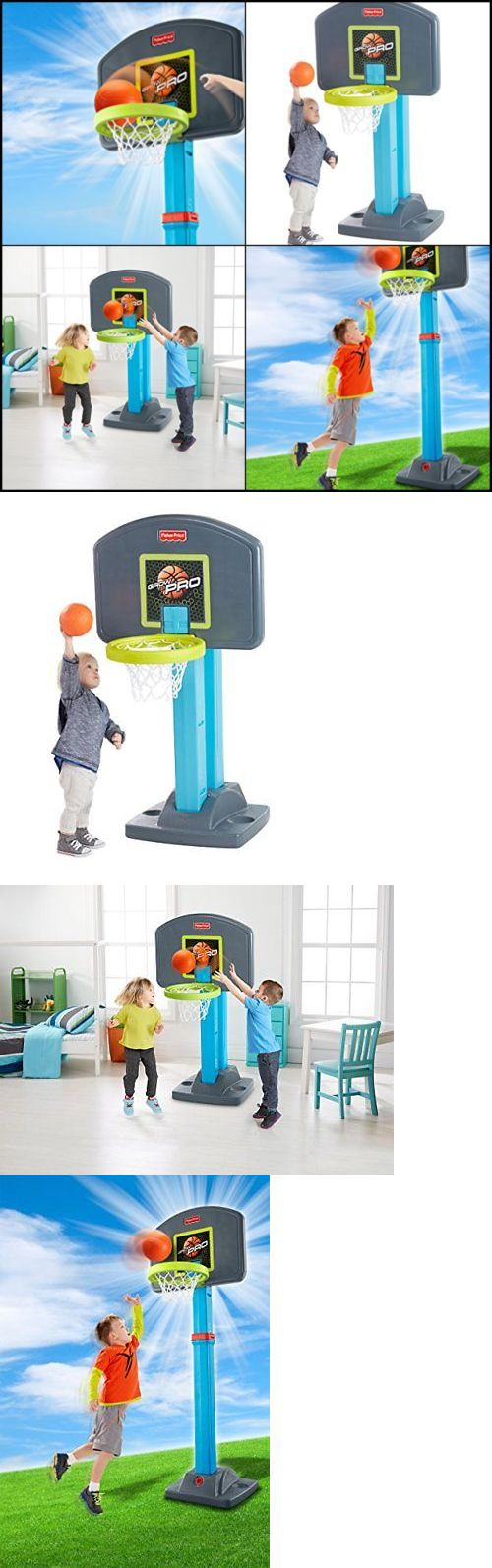 Other Outdoor Toys Structures 11742: Fisher Price Grow-To-Pro Basketball Set, 4 Height Positions Kids Basketball Hoop -> BUY IT NOW ONLY: $57.7 on eBay!