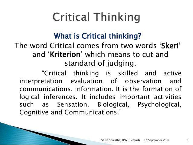 Critical Thinking Definition  Buscar Con Google  Unit  Saving