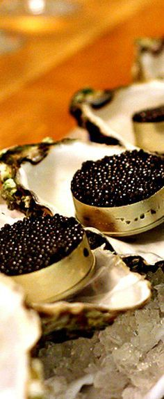 Caviar Served With Freshly Shucked Oysters, Washed Down With The Finest Of Champagne Is A Summer Ritual