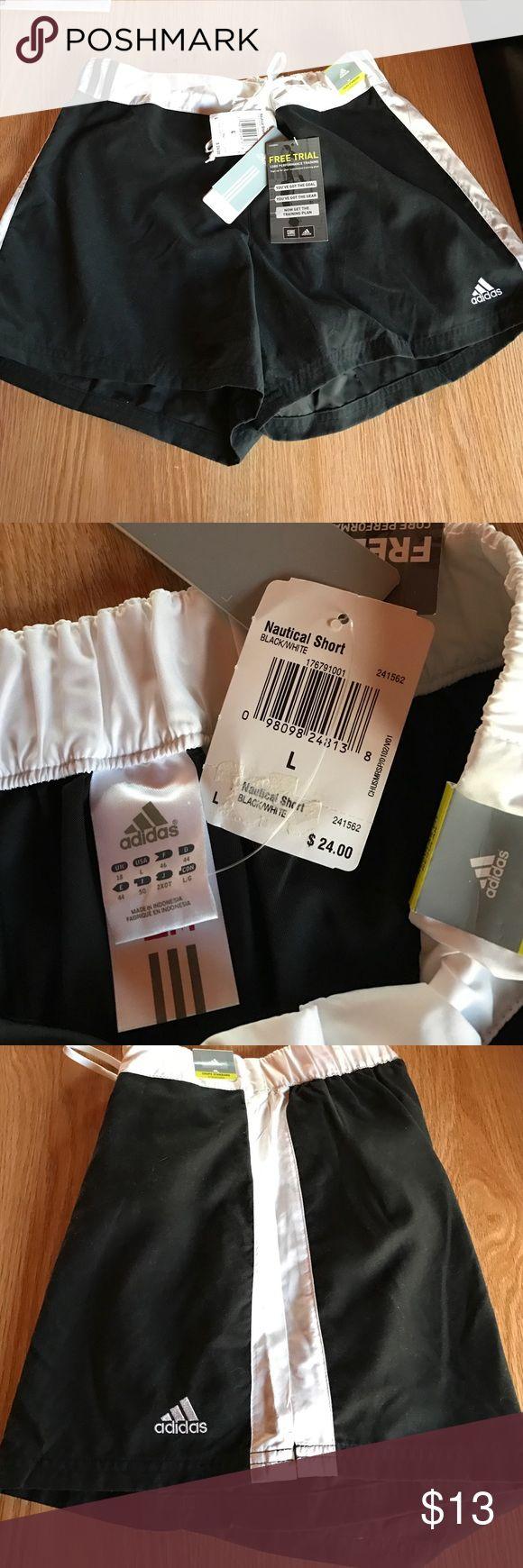 NWT Adidas Nautical Shorts Drawstring with back pocket. New. Adidas Shorts