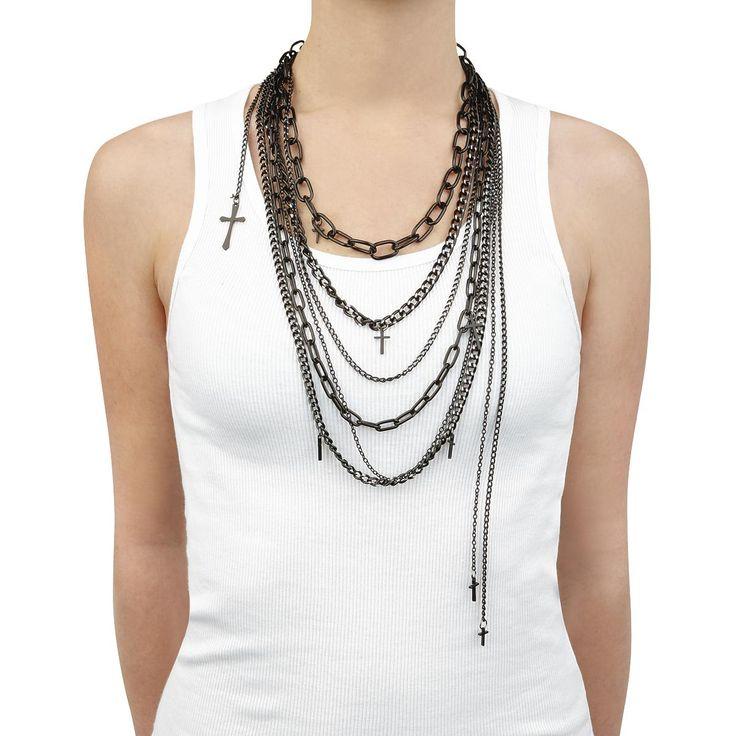 Poizen Industries  Halskette  »Cross Chains« | Jetzt bei EMP kaufen | Mehr Rockwear  Halsketten  online verfügbar ✓ Unschlagbar günstig!