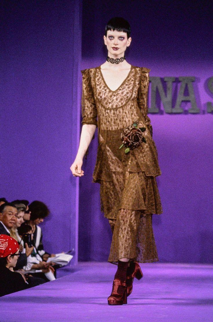Anna Sui Spring 1993 Prepared-to-Put on Vogue Present