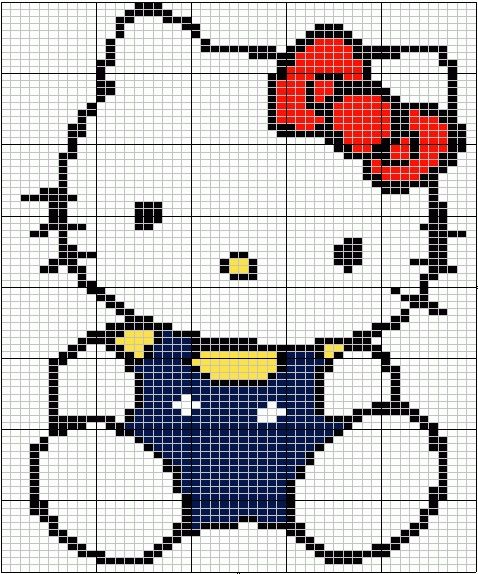 Free Hello Kitty Cross Stitch Chart Pattern