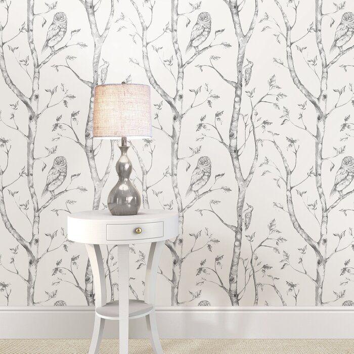 August Grove Gabin Grey Woods Peel And Stick Wallpaper Reviews Wayfair Ca Grey And White Wallpaper Wood Wallpaper Nuwallpaper