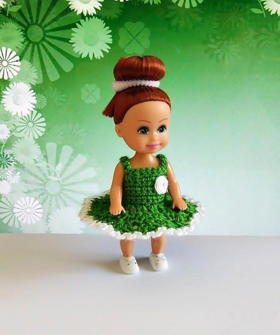 Miniature doll dress miniature dress 4 inch doll dress 4