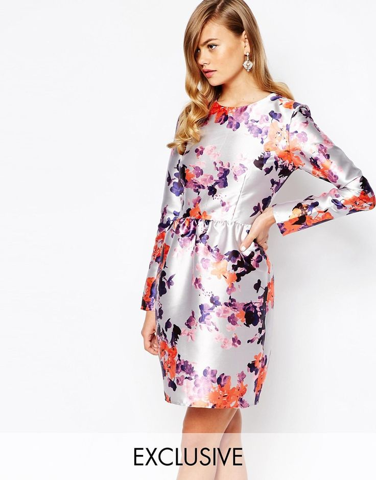True Violet Satin Dress with Tulip Skirt