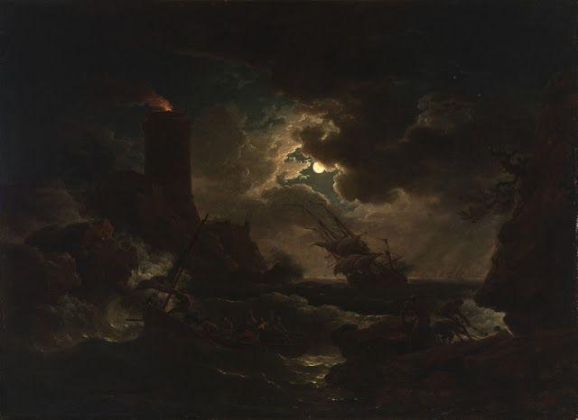 Claude-Joseph Vernet (1714-1789), Clair de Lune - 1760