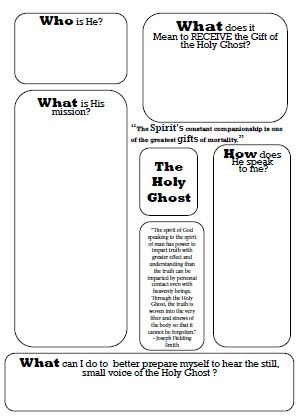 The Holy Ghost - Worksheet*  Idea:  Give the worksheet and have them fill it out and then share their thoughts.