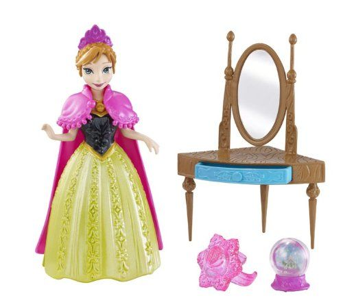 Disney Frozen Magiclip Small Doll Anna Giftset: This charming collection features adorable Anna and Elsa small dolls from the upcoming Disney feature Frozen. Anna and Elsa are sisters living in the en