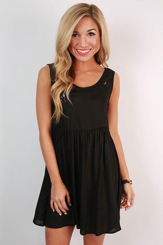 Girl's Best Friend Tank Dress in Black