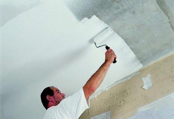 Покраска потолка. Ошибки при покраске потолка