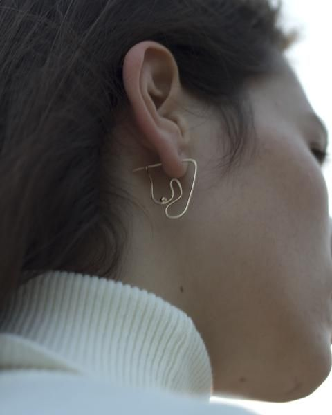 Deconstructed Nude Earring | Knobbly Studio x Laurie Franck