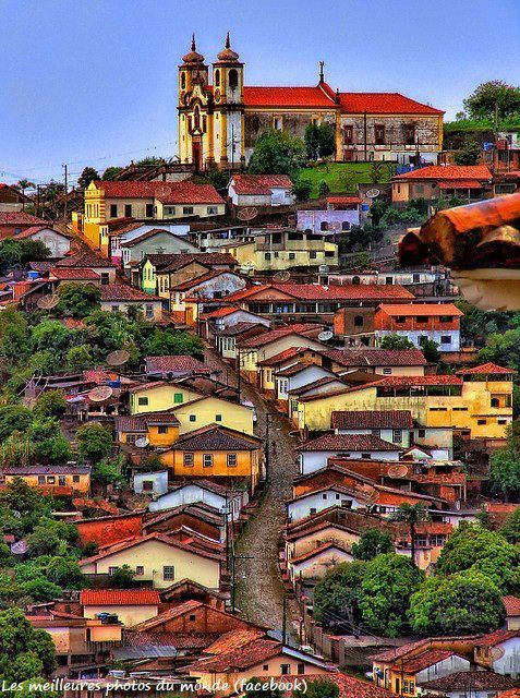 Ouro Preto, Brazil- if only everyone painted their world in color everyday!  (Where the soapstone used in the Christ the Redeemer statute and the architect which inspired it came from)