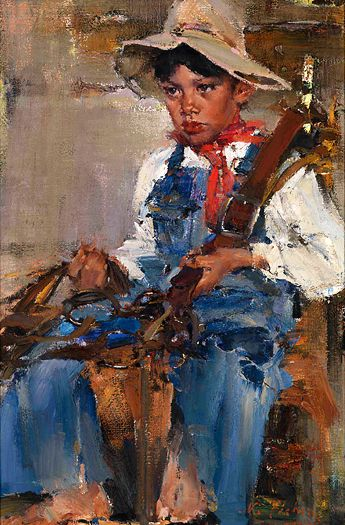 Николай Фешин  Маленький ковбой, 1940