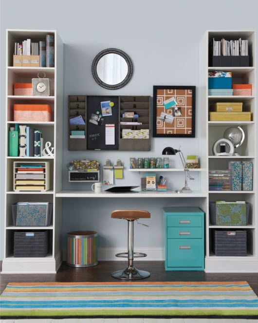 Just because it's an office doesn't mean it has to be decorated bland. Add color…