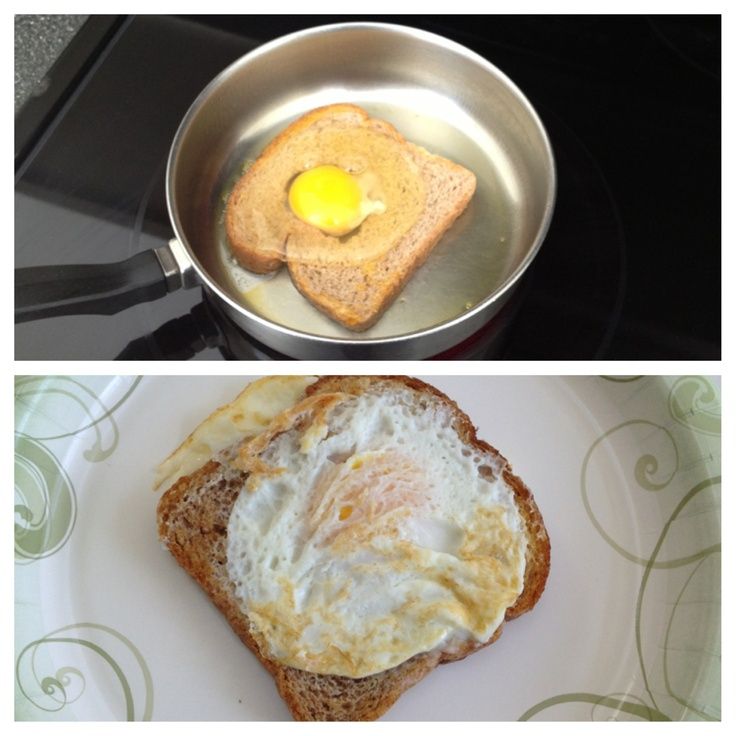 how to make fried bread with egg in middle