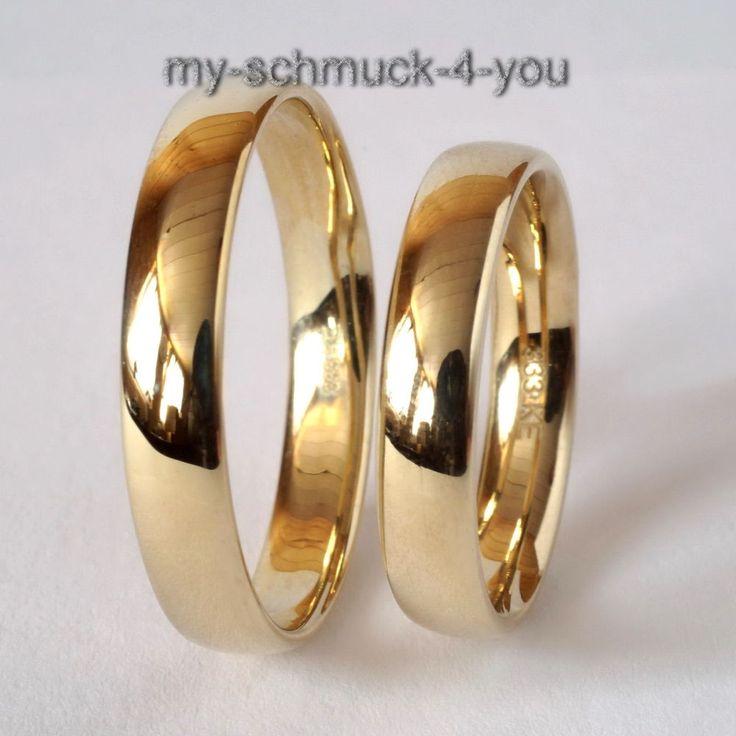 EHERING Trauring Ring 333 Gold 8 Karat Verlobungsring Eheringe Ringe 2620